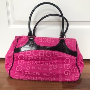 Small pink & patent leather BCBG wkend bag